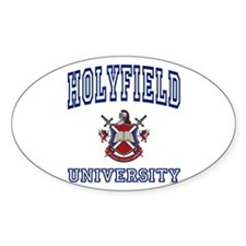 HOLYFIELD University Oval Decal