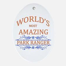 Park Ranger Ornament (Oval)