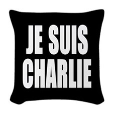 JE SUIS CHARLIE Woven Throw Pillow