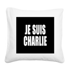 JE SUIS CHARLIE Square Canvas Pillow