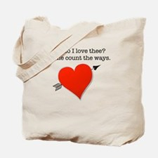 Valentines day fiance Tote Bag
