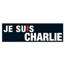 Je Suis Charlie Bumper Sticker Reverse