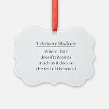 Cute Veterinary medicine Ornament