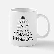 Keep calm we live in Menahga Minnesota Mugs
