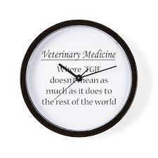 Vet Med: Animals Better Wall Clock
