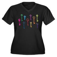 Skeleton Keys Plus Size T-Shirt