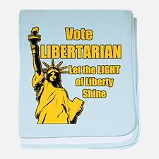 Vote Libertarian baby blanket