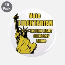 """Vote Libertarian 3.5"""" Button (10 pack)"""