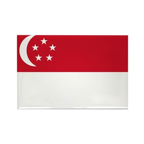 Singapore Flag Rectangle Magnet (10 pack)