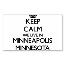 Keep calm we live in Minneapolis Minnesota Decal