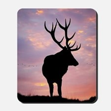 Stag And Sunset Mousepad