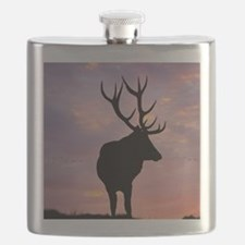 Stag And Sunset Flask