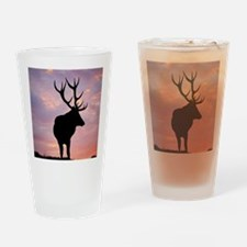 Stag And Sunset Drinking Glass
