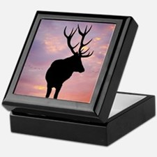 Stag And Sunset Keepsake Box