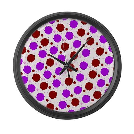 Funky Polkadot Splash Large Wall Clock By Polkadotpattern