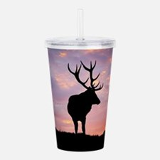 Stag And Sunset Acrylic Double-wall Tumbler