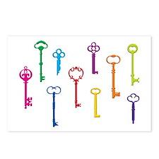 Skeleton Keys Postcards (Package of 8)