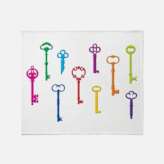 Skeleton Keys Throw Blanket