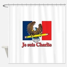 Je suis Charlie French Flag Shower Curtain