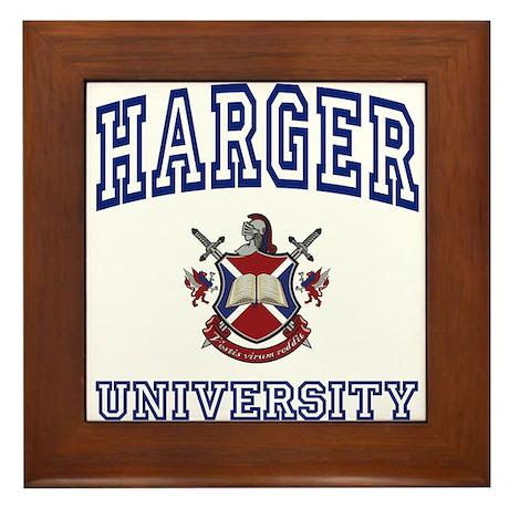 HARGER University Framed Tile