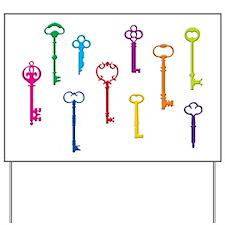 Skeleton Keys Yard Sign