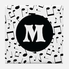 Music Monogram Personalized Tile Coaster