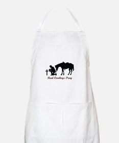 REAL COWBOYS PRAY Apron