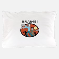 ZOMBIES AFTER BRAINS Pillow Case