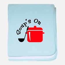 Soup's On baby blanket