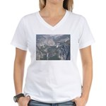 View From Washburn Point Women's V-Neck T-Shirt