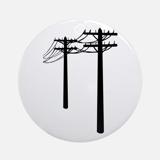 Utility Lines Ornament (Round)