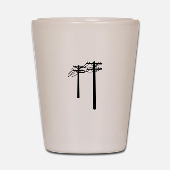Utility Lines Shot Glass