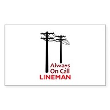 Always On Call Lineman Decal