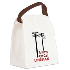 Always On Call Lineman Canvas Lunch Bag