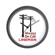 Always On Call Lineman Wall Clock