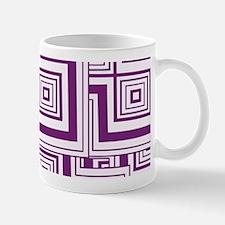Plum Puzzled Mugs