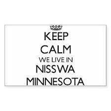 Keep calm we live in Nisswa Minnesota Decal