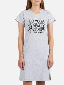 Yoga Stress Wine Women's Nightshirt