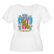 Nelson Coat of Arms - Family Cre Plus Size T-Shirt