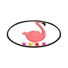 Girl Flamingo and Tulips Patches