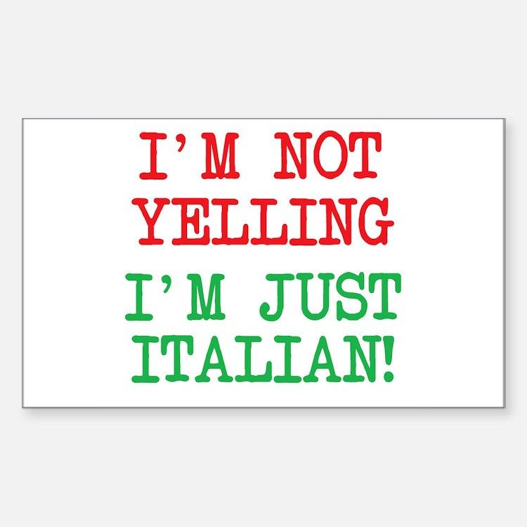 I'm Italian Decal