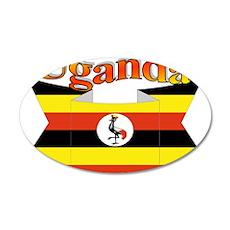 Ugandan ribbon 35x21 Oval Wall Decal