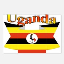 Ugandan ribbon Postcards (Package of 8)