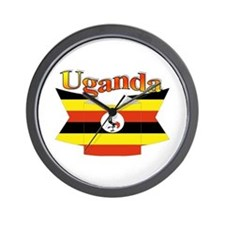 Ugandan ribbon Wall Clock