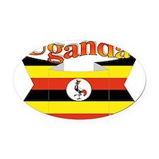 Ugandan ribbon Oval Car Magnet