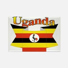 Ugandan ribbon Rectangle Magnet