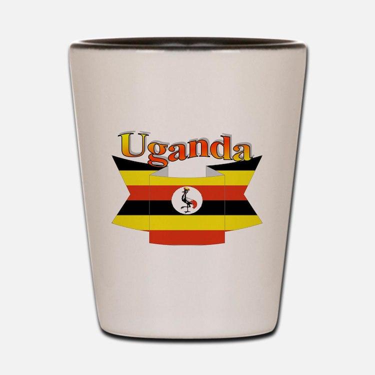 Ugandan ribbon Shot Glass