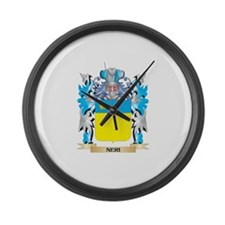 Neri Coat of Arms - Family Crest Large Wall Clock