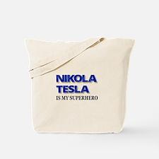 Nikola Tesla Is My Superhero Tote Bag