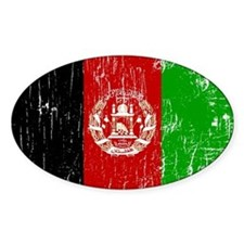 Vintage Afghanistan Oval Decal